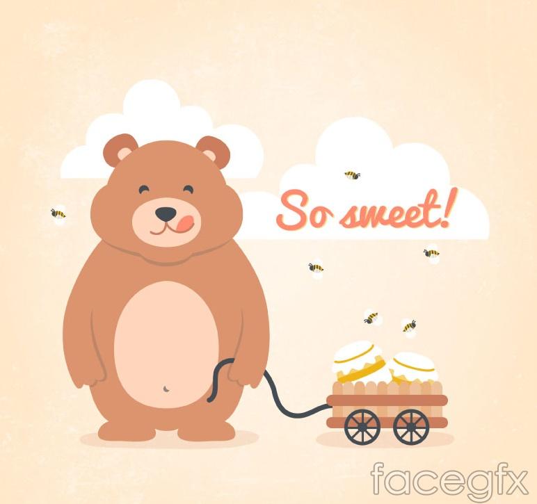 Honey Bear tanker vector