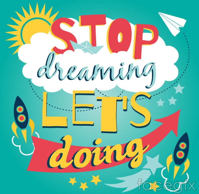 Stop the dream Act vector illustration