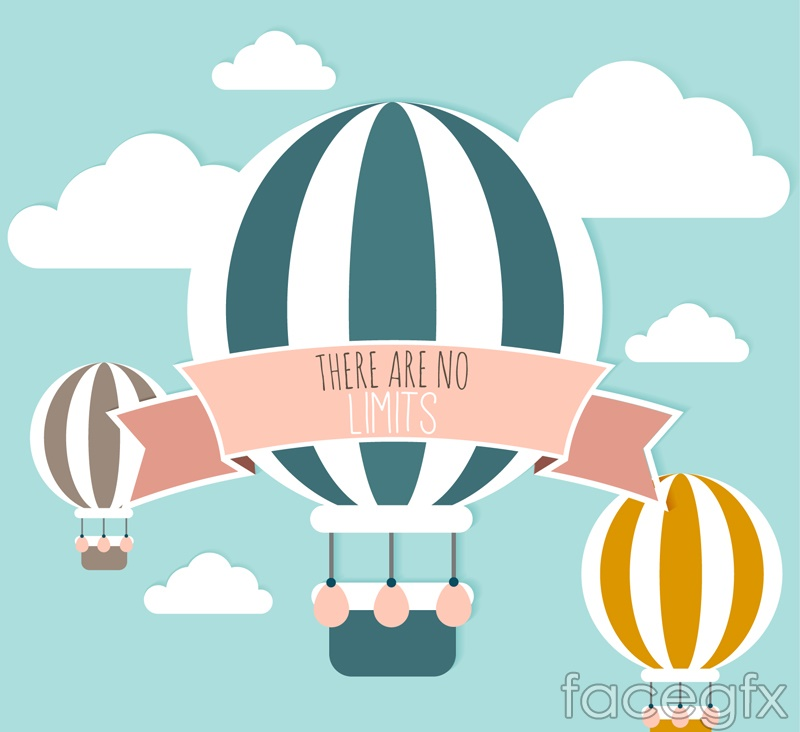 Striped balloon clip art vector