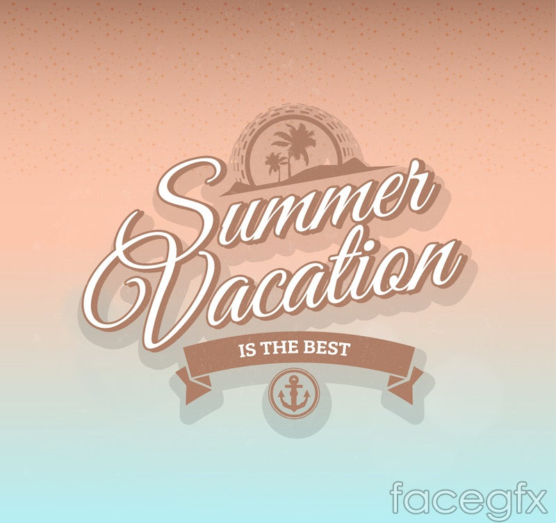 Summer holiday word art vector