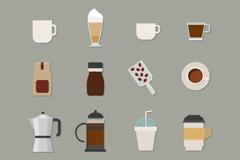 16 coffee element icon vector