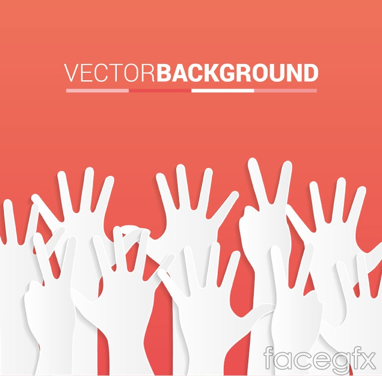 White Palms background vector