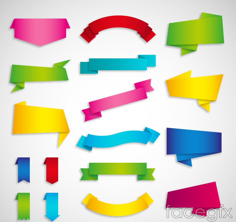 17 color banner vector