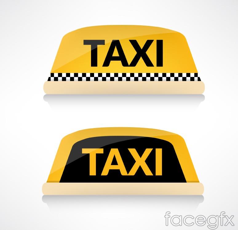 2 cab top light box vector
