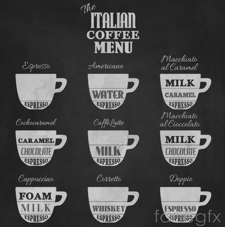 9 creative Italy coffee single vector