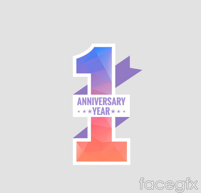 Creative anniversary art tag vector