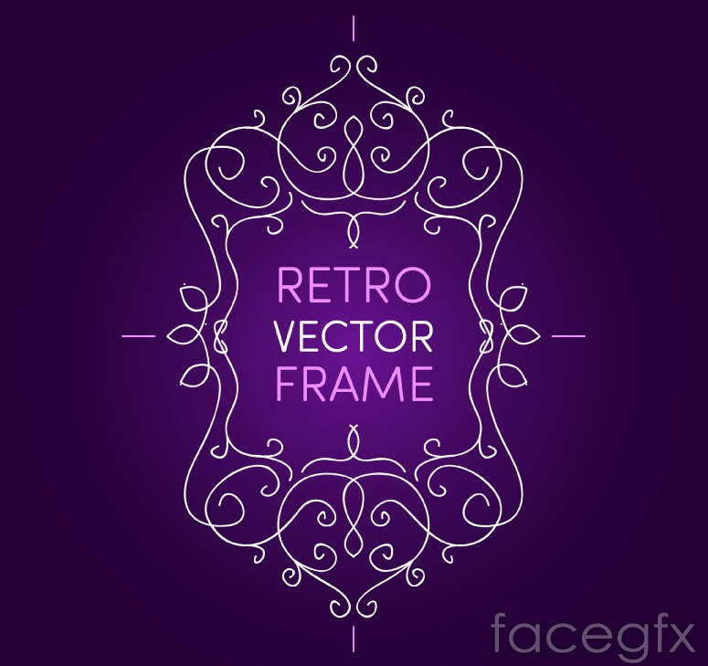 Creative pattern border end of purple background vector
