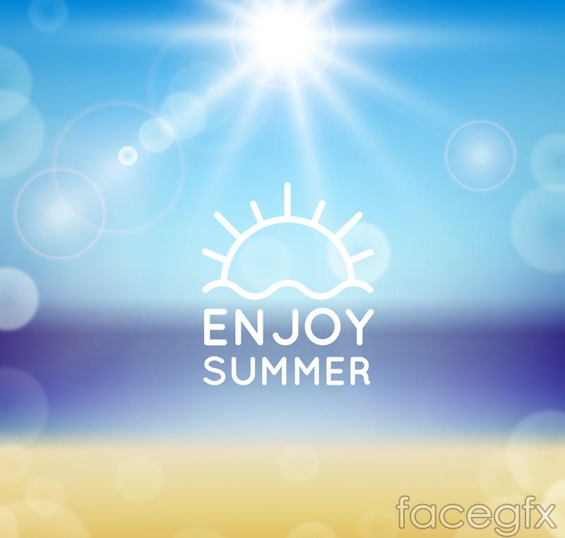 Dream summer beach vector