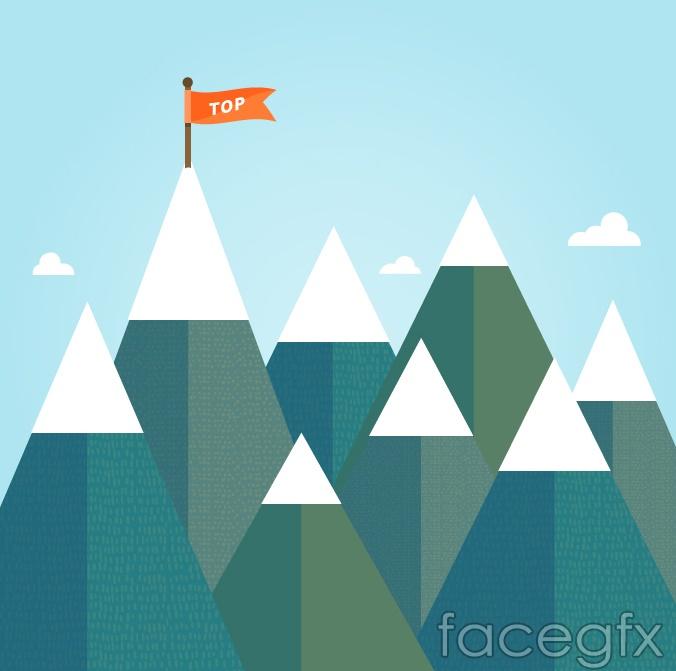 Flags snow base vector