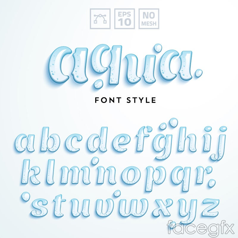 Letters 26 drops design vector