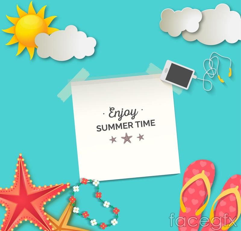 Summer time illustration vector