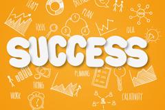 Business success clip art vector
