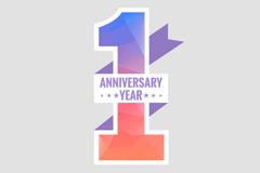 Creative anniversary art tag vector
