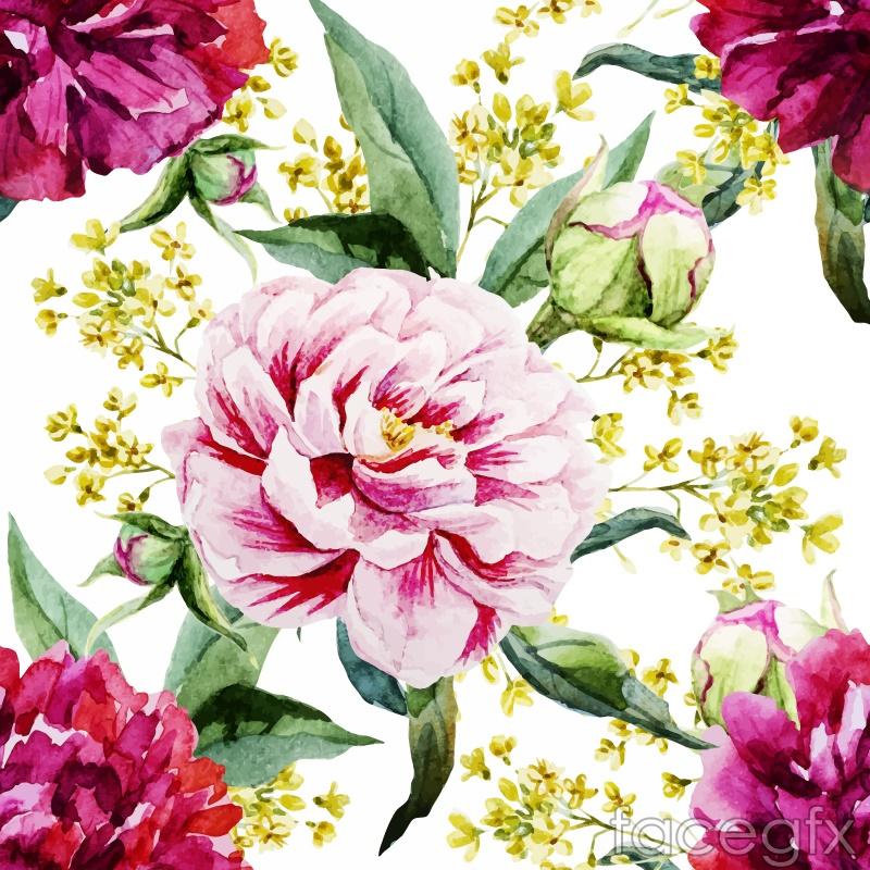 Wealthy Peony flower design vector