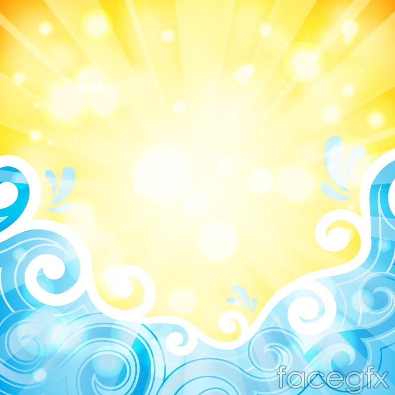 Abstract waves and beach vector