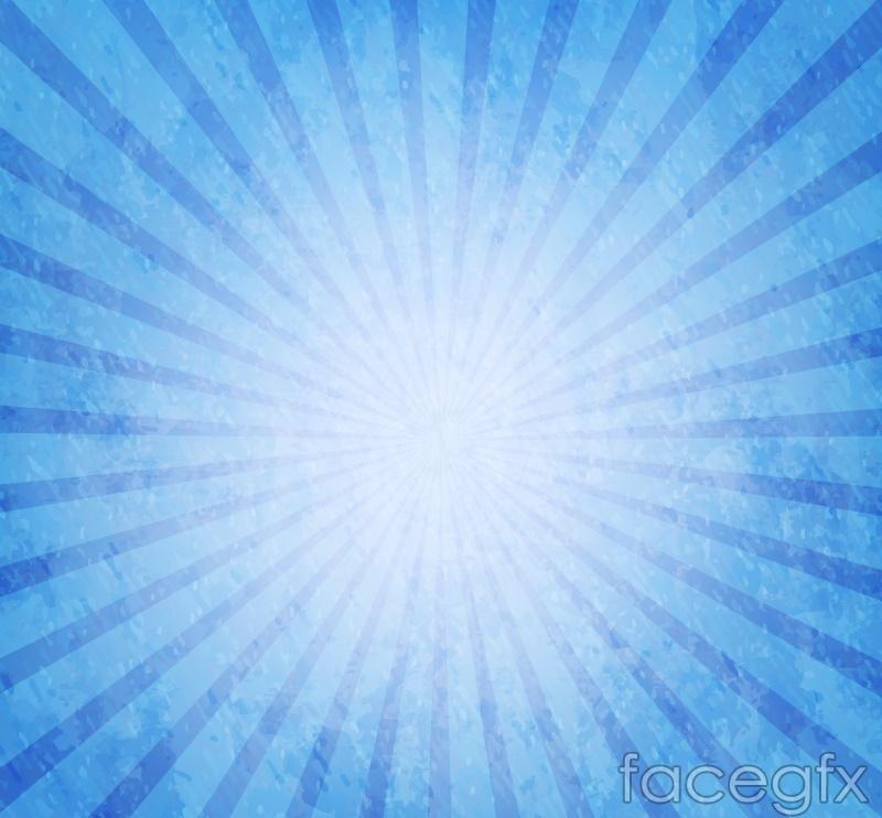 Blue radiation background vector