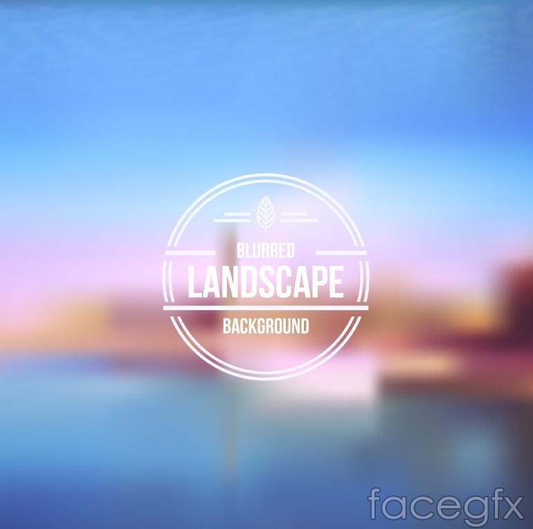Fuzzy seaside city vector
