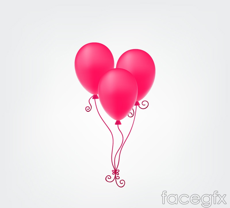 Pink balloon bouquet vector