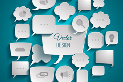 Bubble fun paper language vector