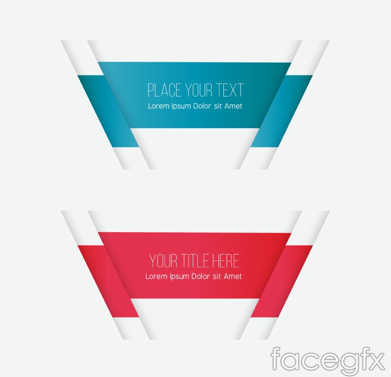 2 color print banner vector