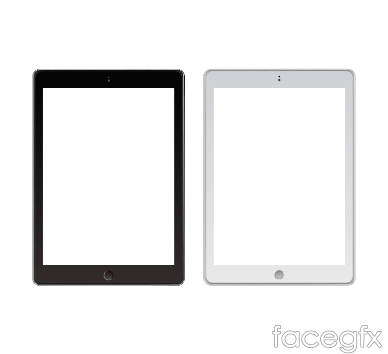 Black and white Tablet vector