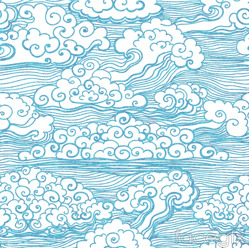 Blue clouds background vector
