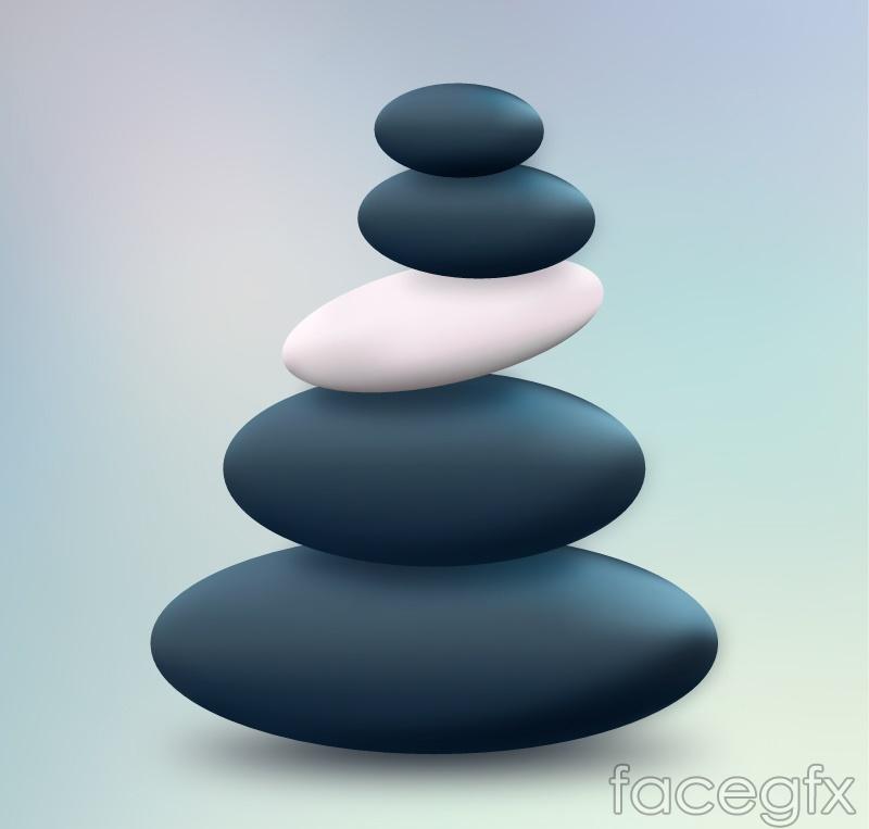 Spa Spa pebble design vector graph
