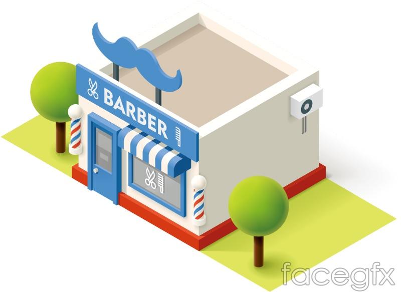 Stereo Barber design vector