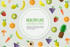 Healthy living food background arrow amount of  vector