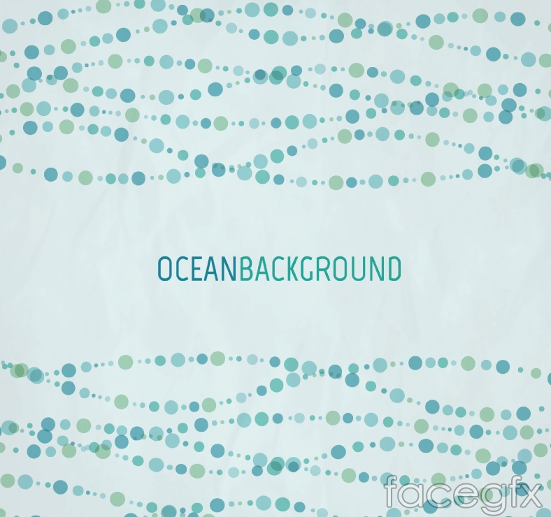 Watercolor dots wave vector background illustration