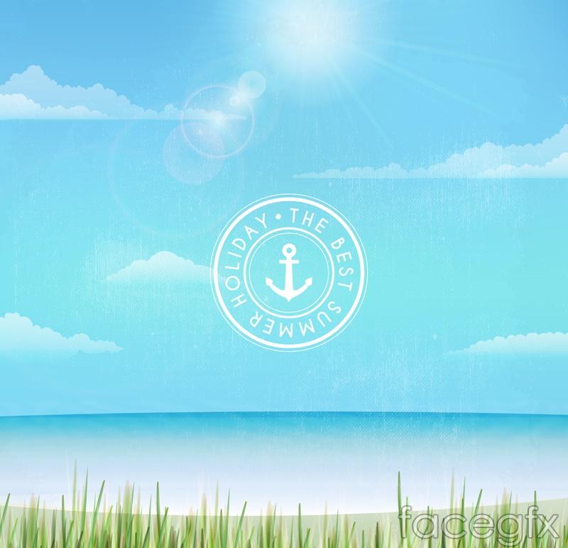 Best vacation beach scenery vector graphics
