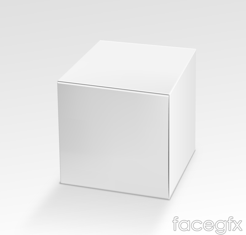 Blank stereo paper tray vector