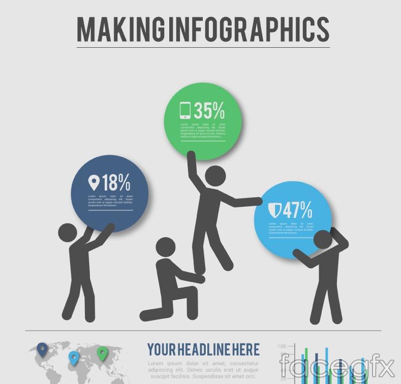 Business marketing information vector