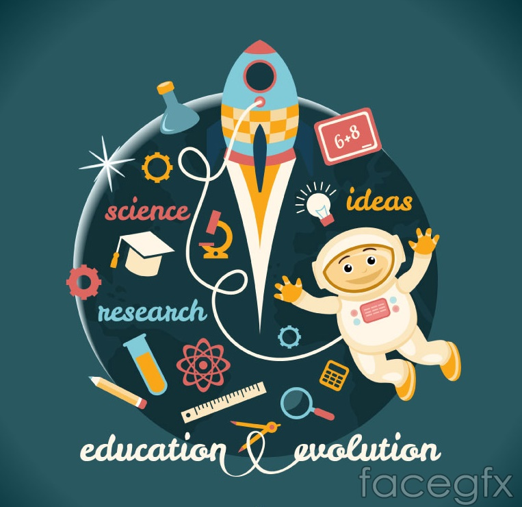 Creative education in vector illustration