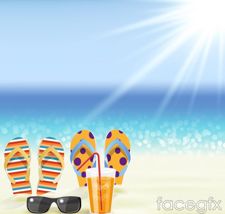 Leisure Beach vector illustration