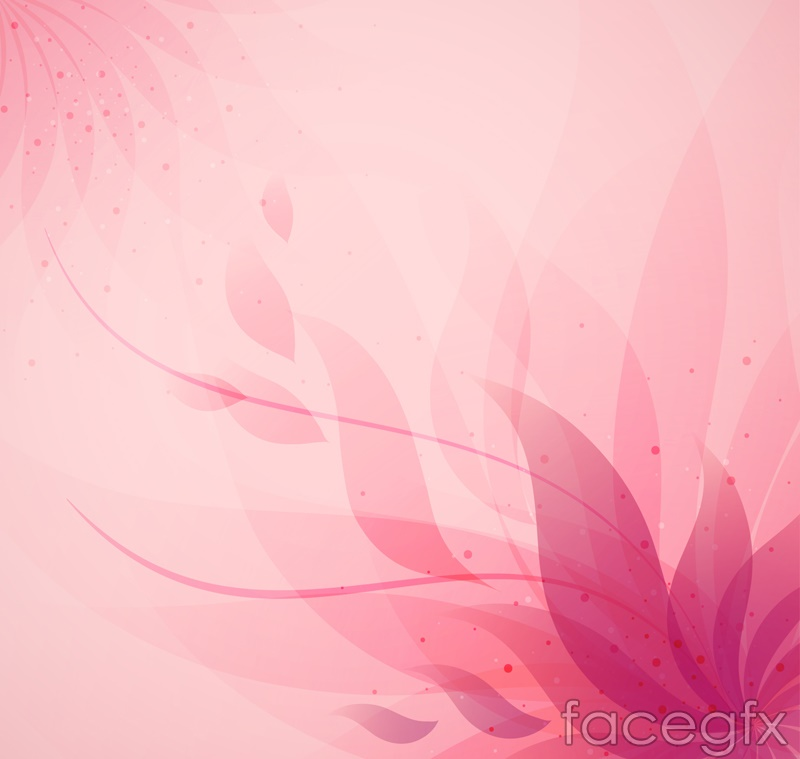 Pink abstract floral background vector