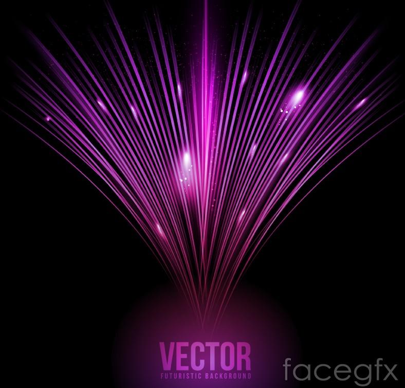 Purple light effect background vector