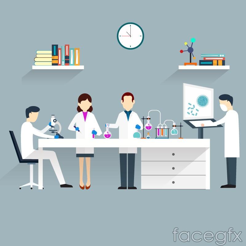 Scientific research vector illustration