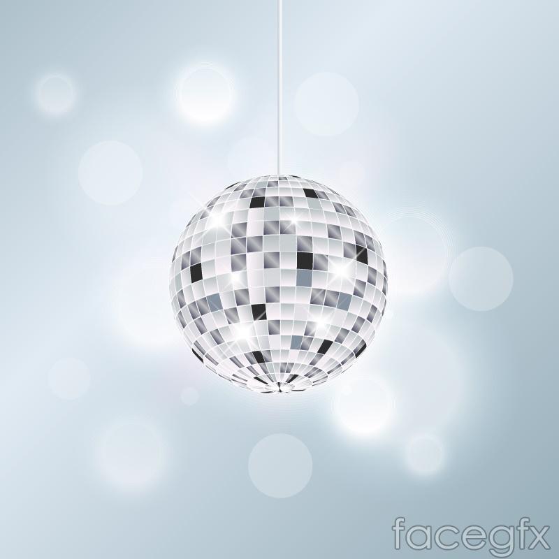 Silver disco balls vector
