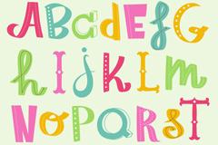 Creative color letter design vector
