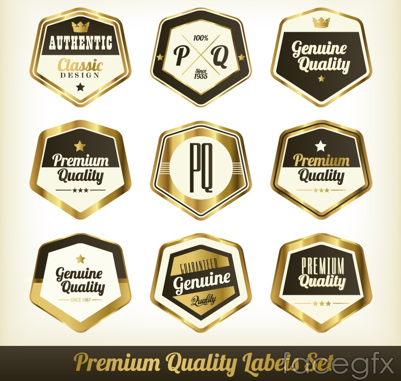 9 gloss quality label vector