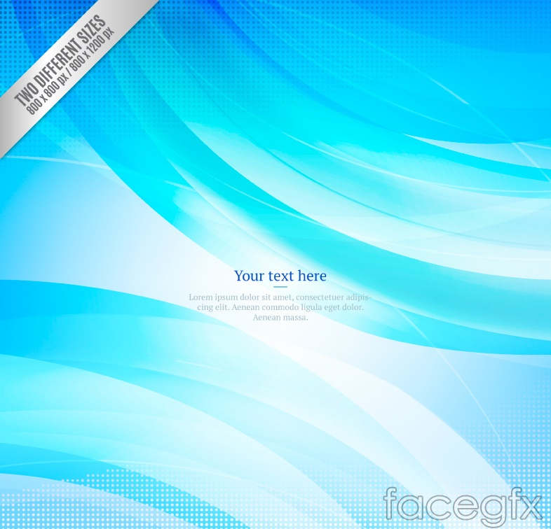 Blue dynamic background vector of the curve graph