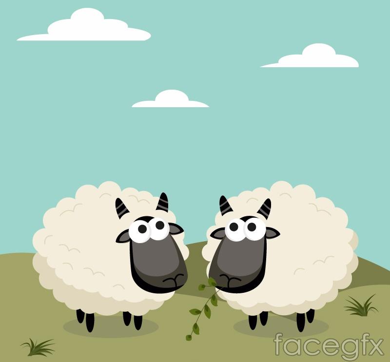 Cartoon black sheep design vector