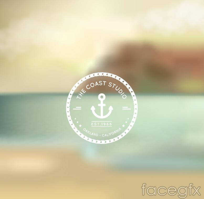 Fuzzy summer beach landscape background vector