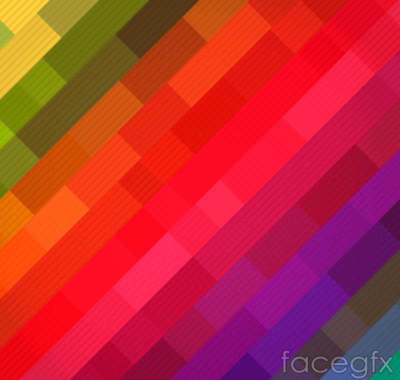 Rainbow checkered background vector