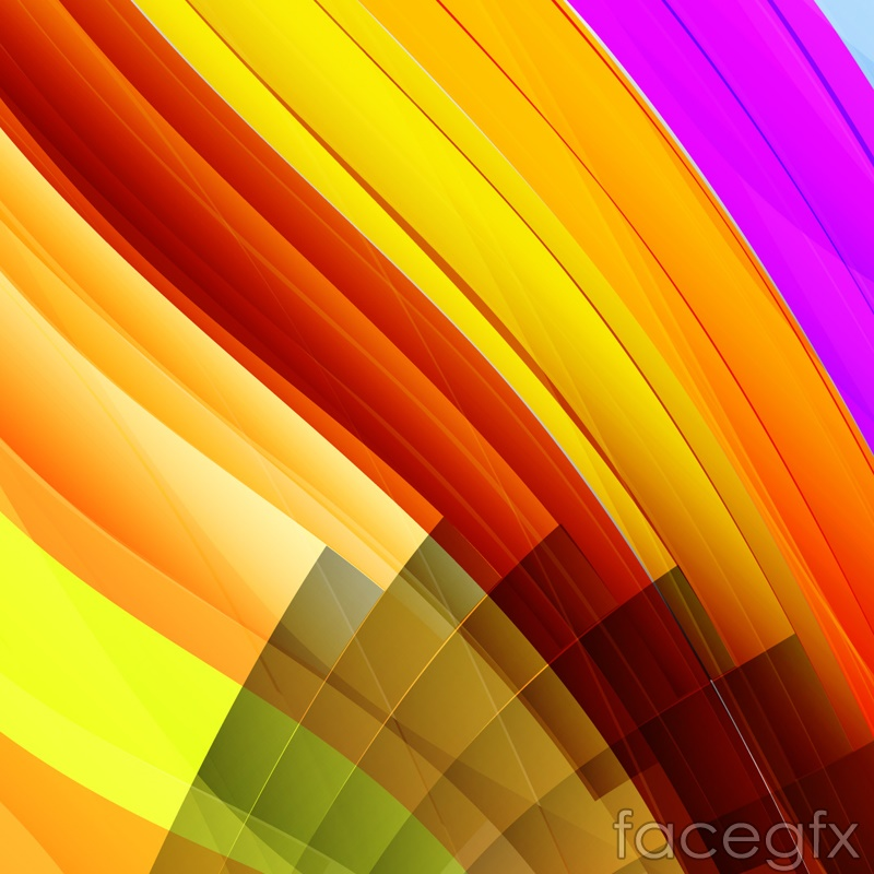 Smooth curves in color vector background