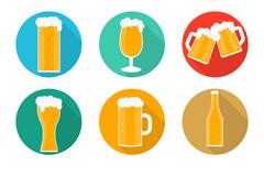 9 delicious beer icons vector