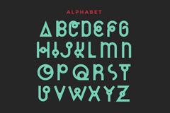 Cassiopeia art alphabet design vector