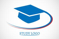 Dr blue caps research logo vector