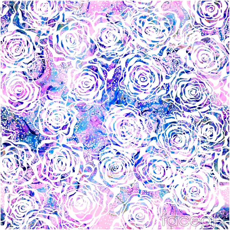 White Rose pattern vector seamless background